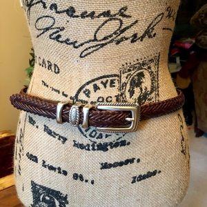 BRIGHTON brown leather belt size M/L 32